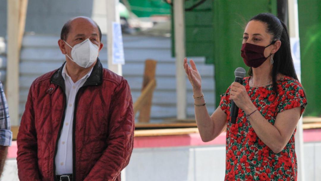 Claudia Sheinbaum durante la revisión de la Línea 4 del Metrobús. (Cuartoscuro.com)