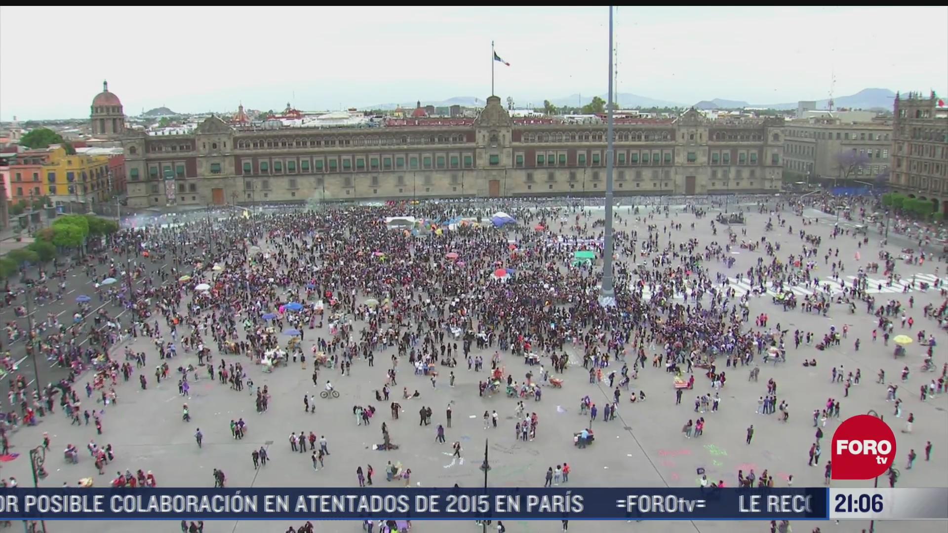 colocan dispositivos anti drones en palacio nacional durante marcha 8m