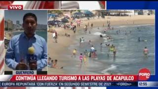 continuan llegando turistas a acapulco