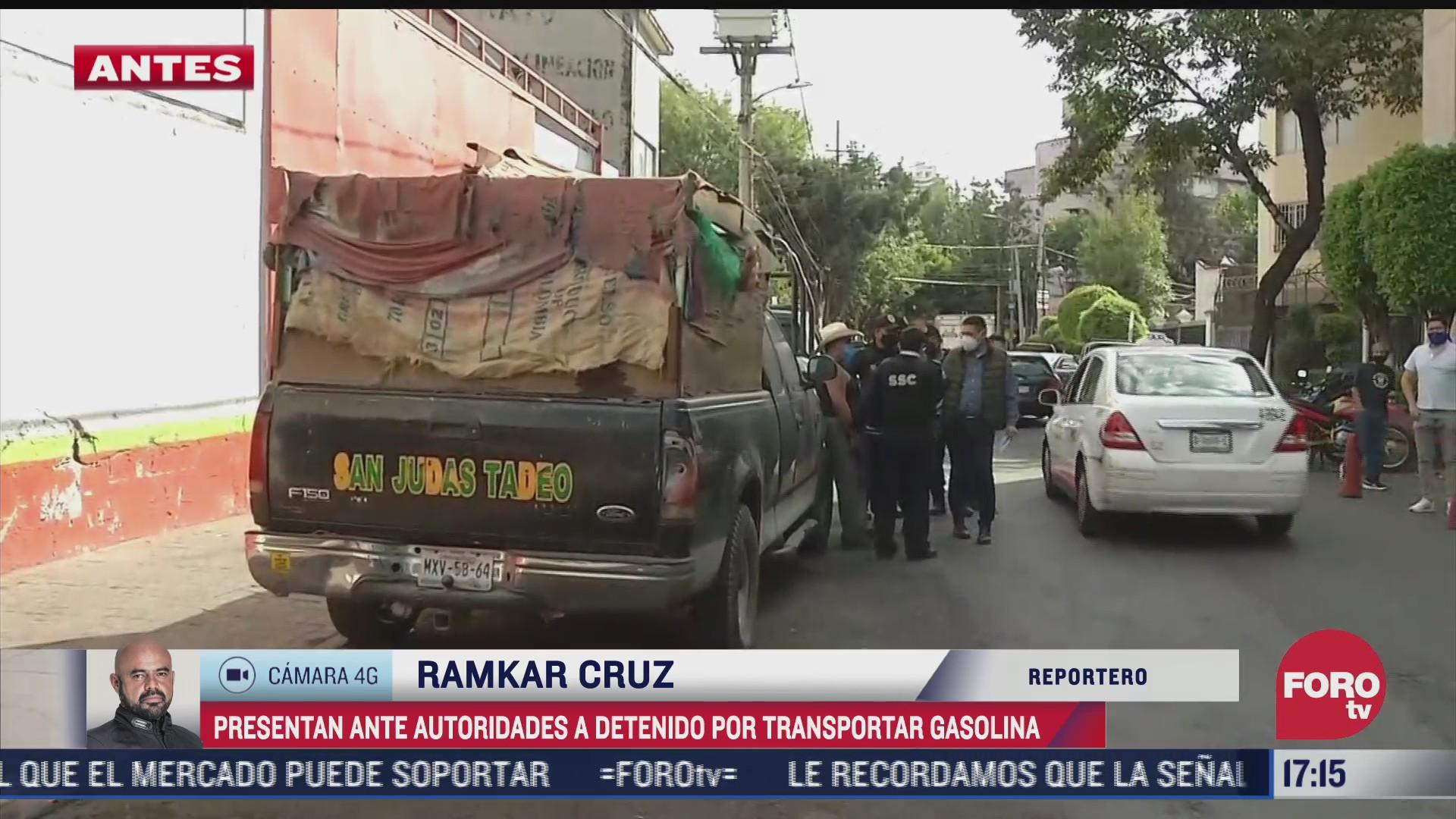 detienen a hombre en xochimilco que transportaba mil 200 litros de combustible