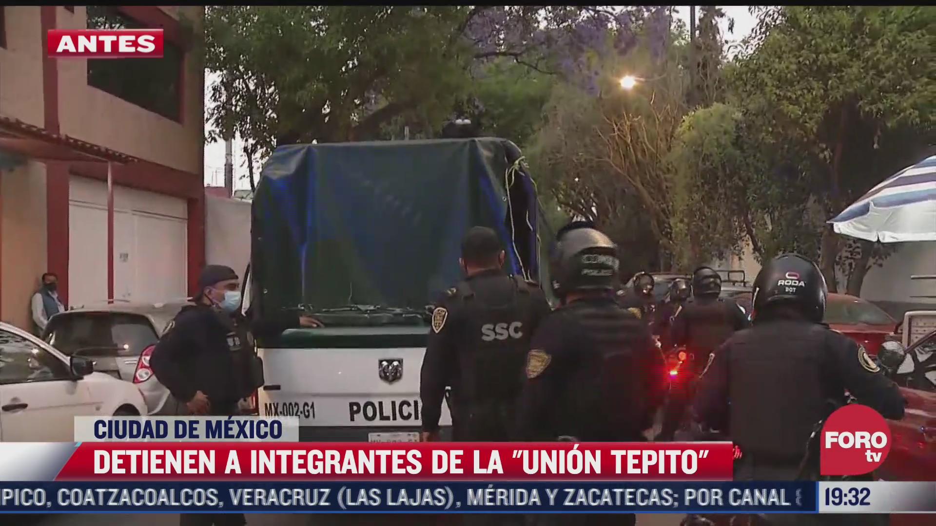 detienen a integrantes de la union tepito tras un operativo en la morelos