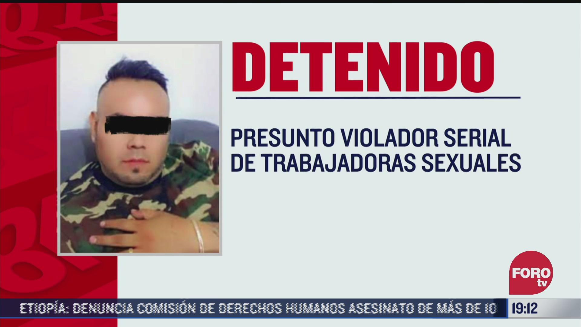 detienen a presunto violador de trabajadoras sexuales