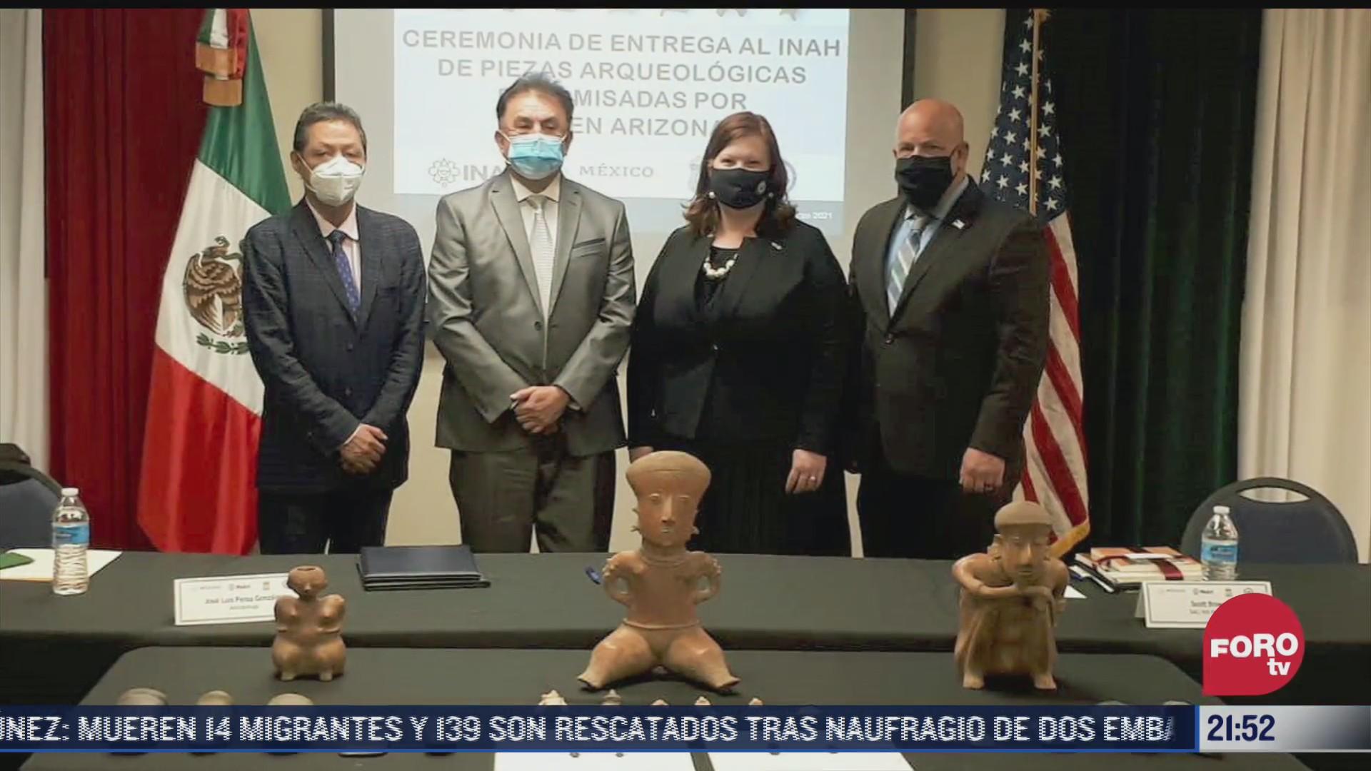 eeuu entrega 280 piezas arqueologicas a mexico