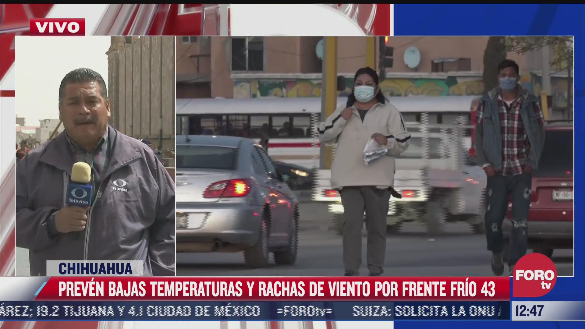 emiten alerta naranja en ciudad juarez por bajas temperaturas y vientos