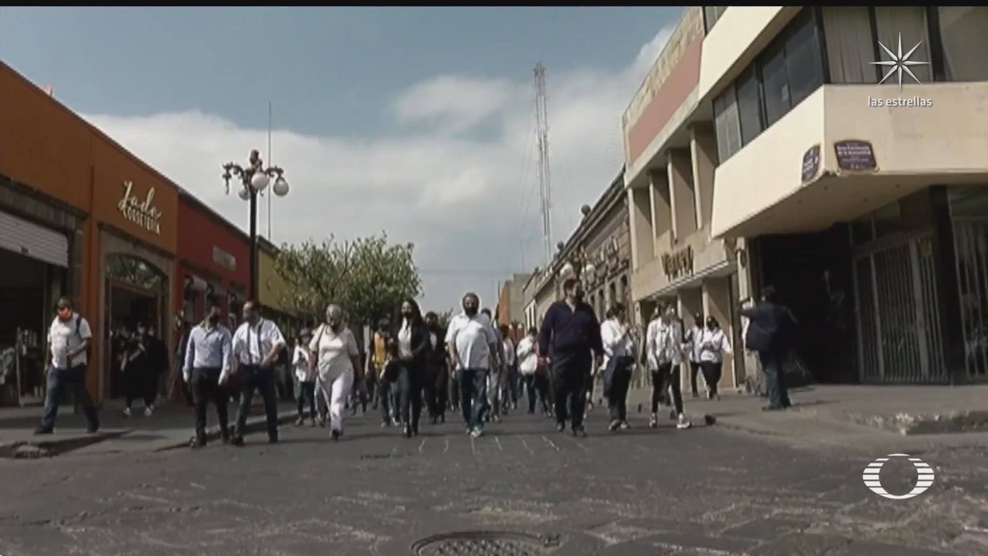 Marchan en SLP por asesinato del presidente de Coparmex