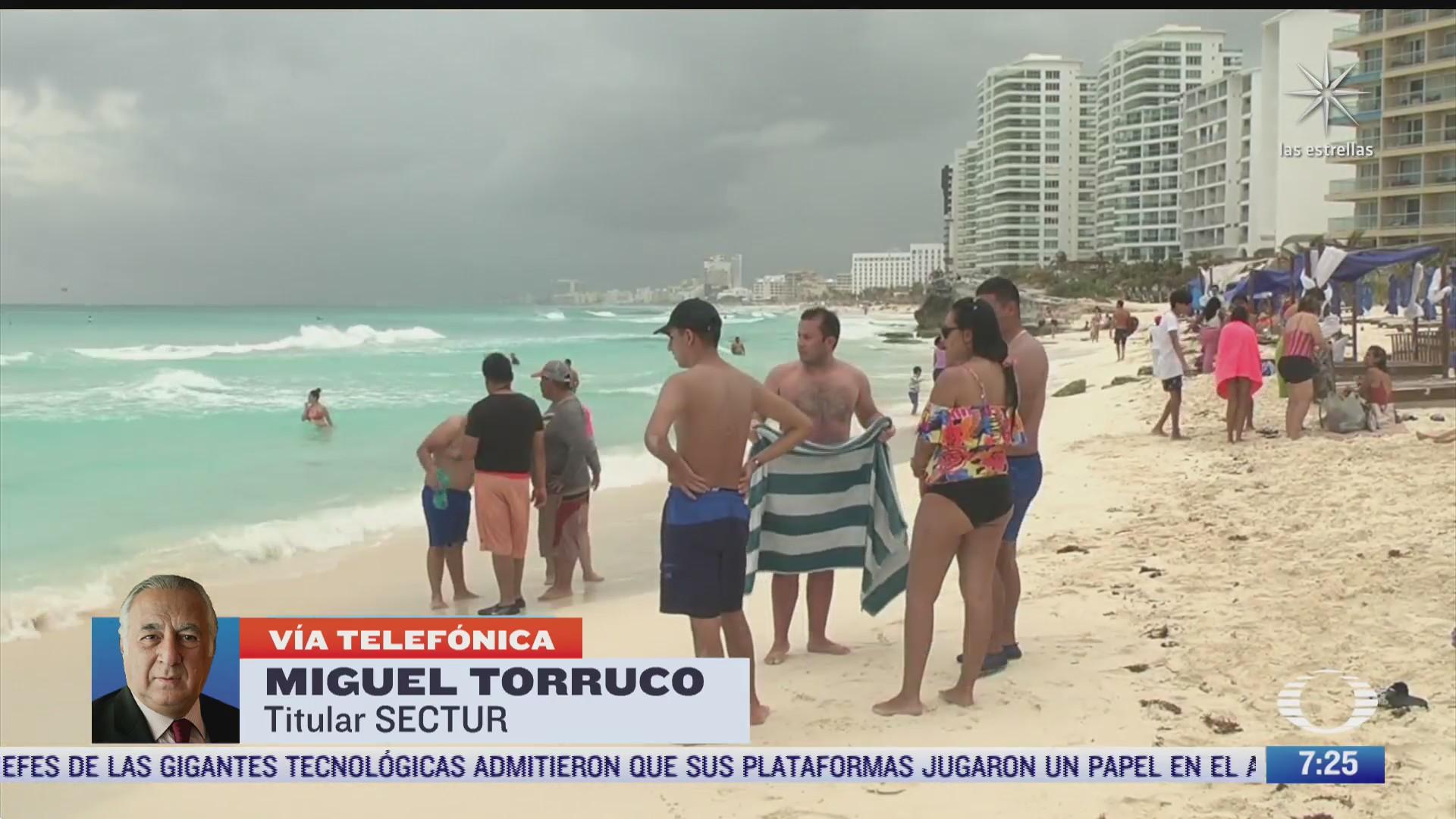 entrevista al secretario de turismo miguel torruco por las vacaciones de semana santa