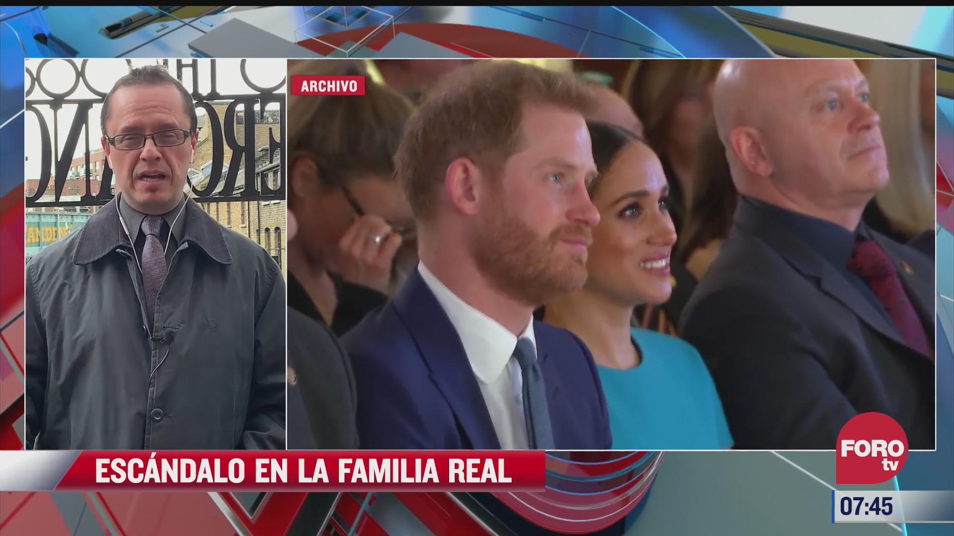 escandalo en la familia real tras entrevista de los duques de sussex