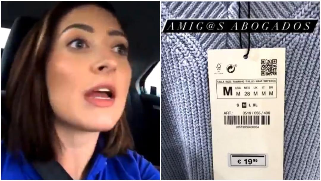 Lady Profeco, Zara, etiqueta, precio, euros, captura de pantalla