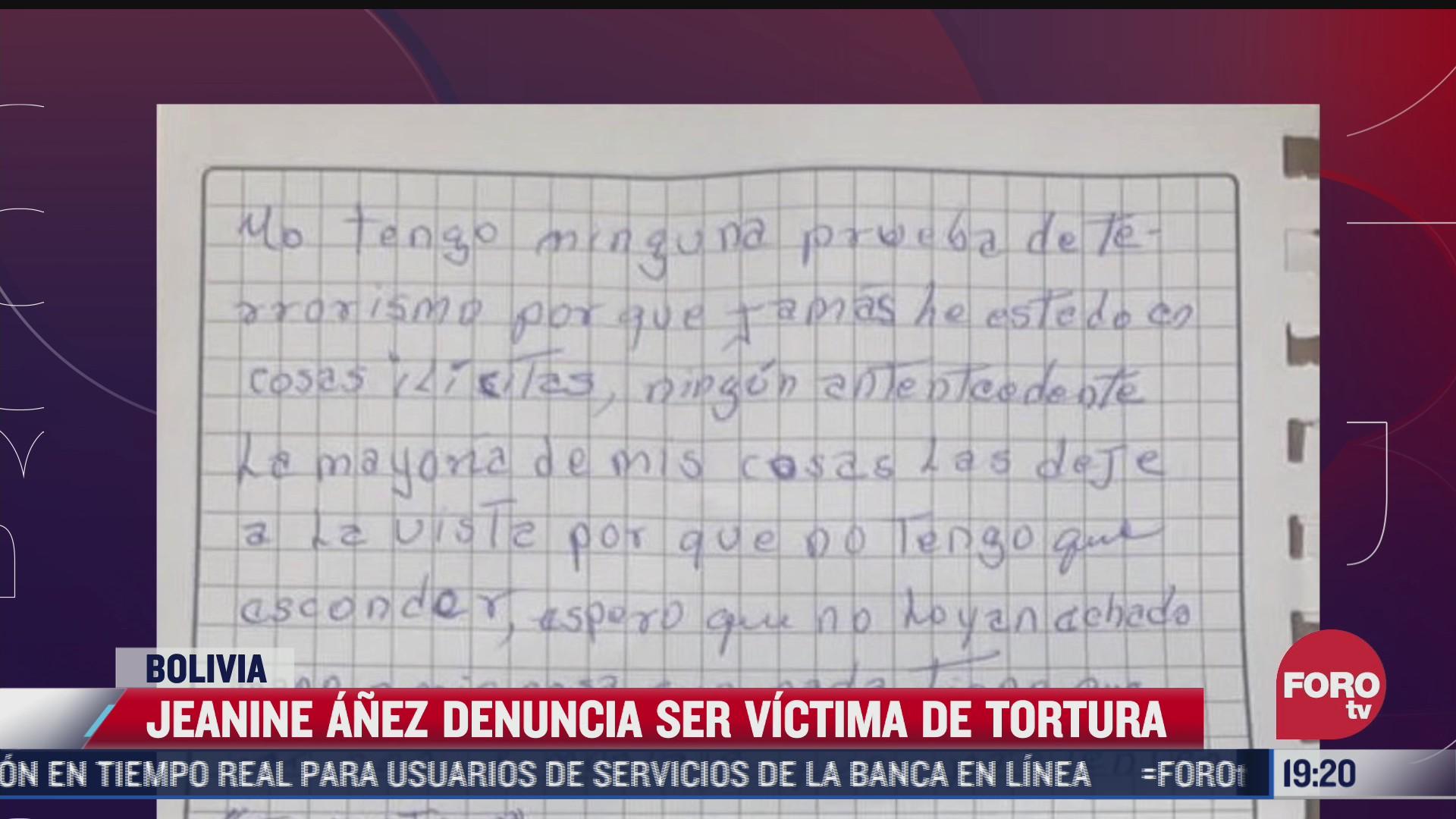 expresidenta interina de bolivia denuncia torturas y abusos tras detencion