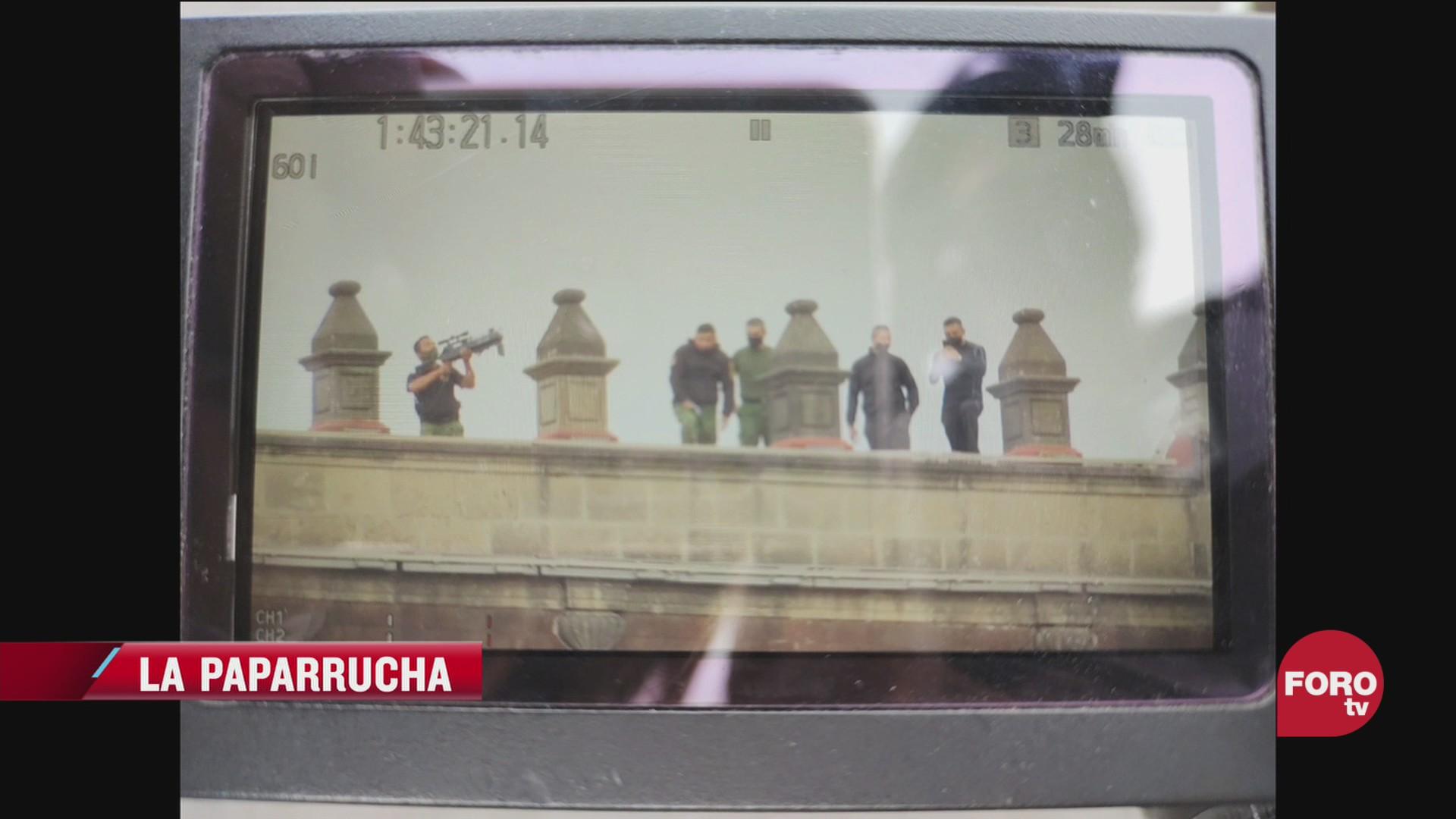 falso gas lacrimogeno y francotiradores en marcha del 8m en cdmx la paparrucha del dia