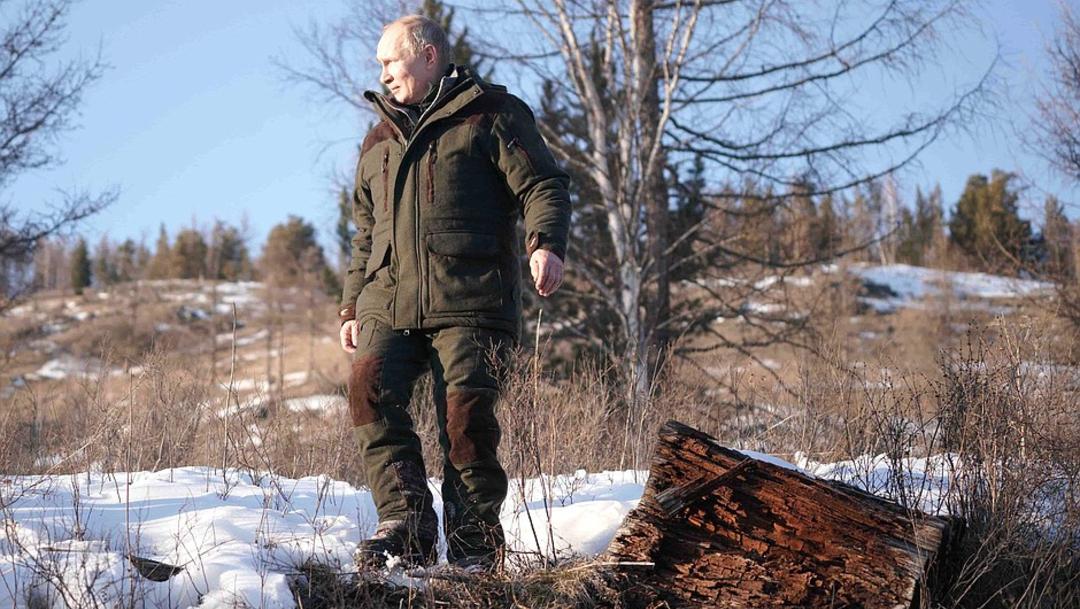 Putin pasa el fin de semana en la taiga siberiana