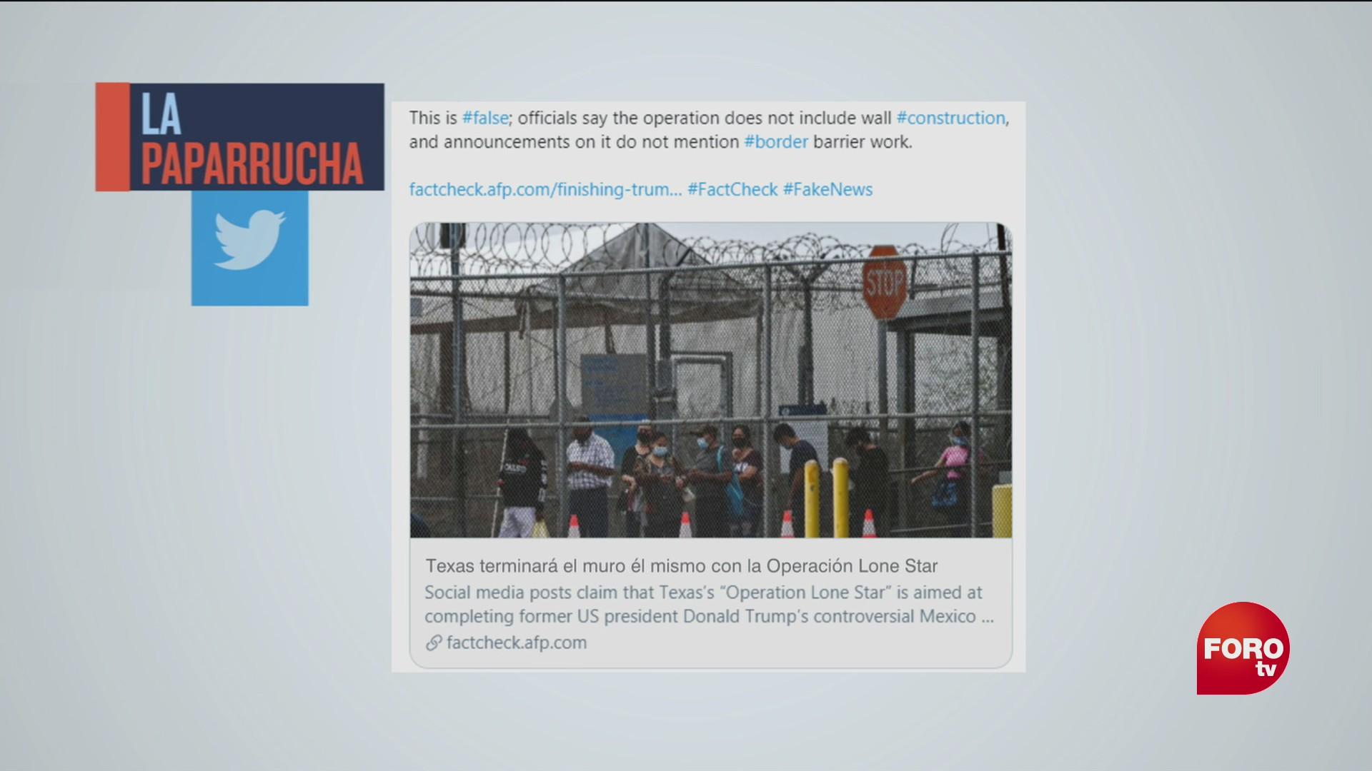 gobierno de texas terminara de construir el muro de trump la paparrucha del dia