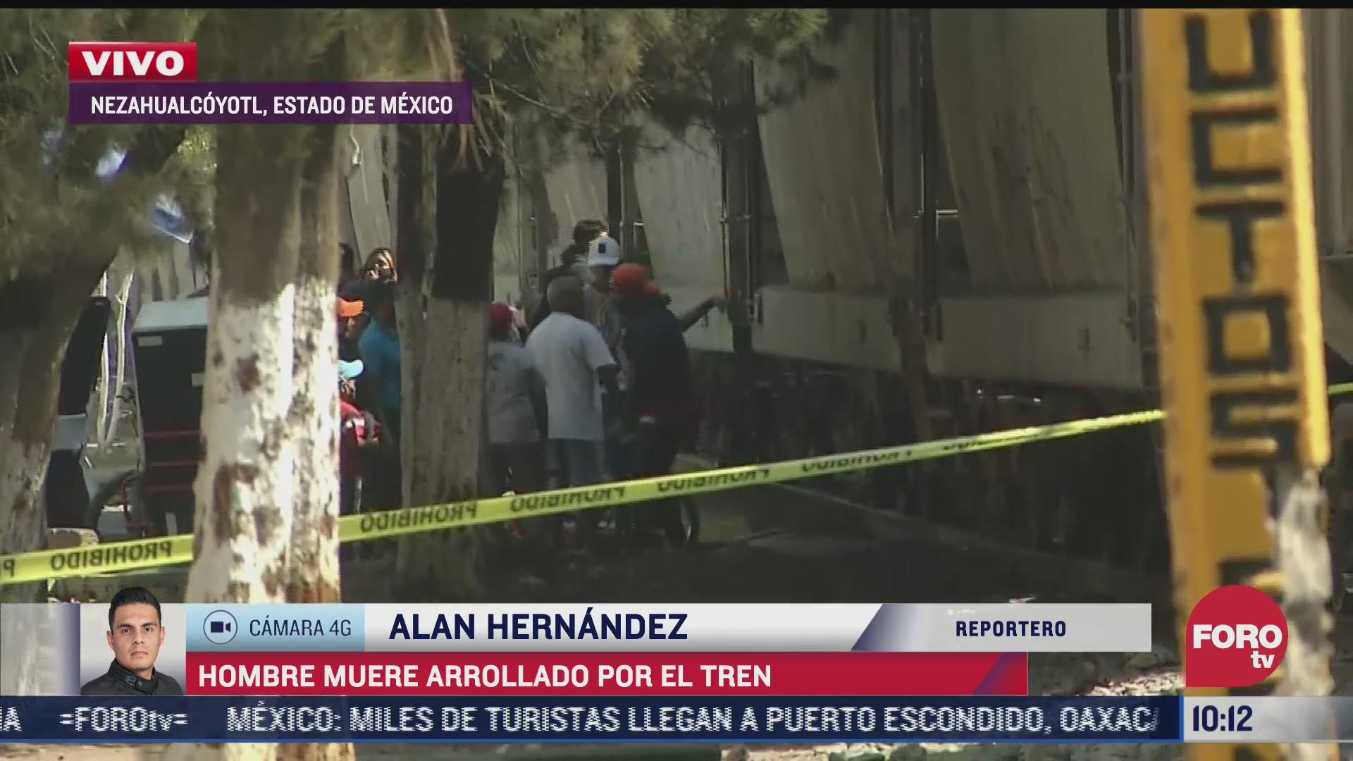 hombre muere arrollado por tren en nezahualcoyotl
