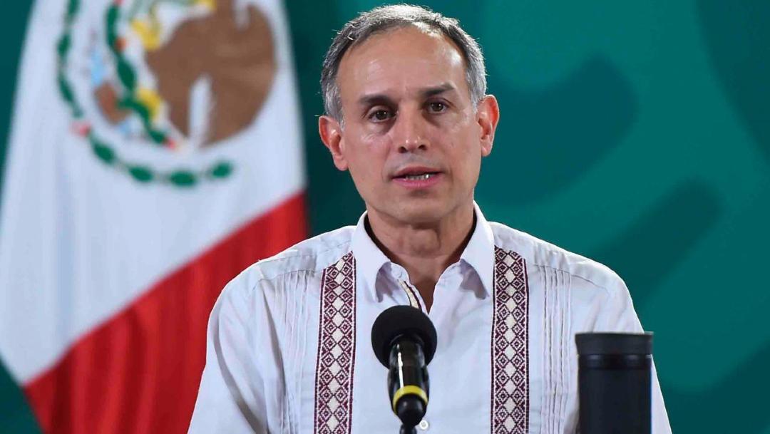 Hugo López-Gatell, subsecretario de Prevención y Promoción de la Salud, durante la conferencia diaria sobre COVID-19