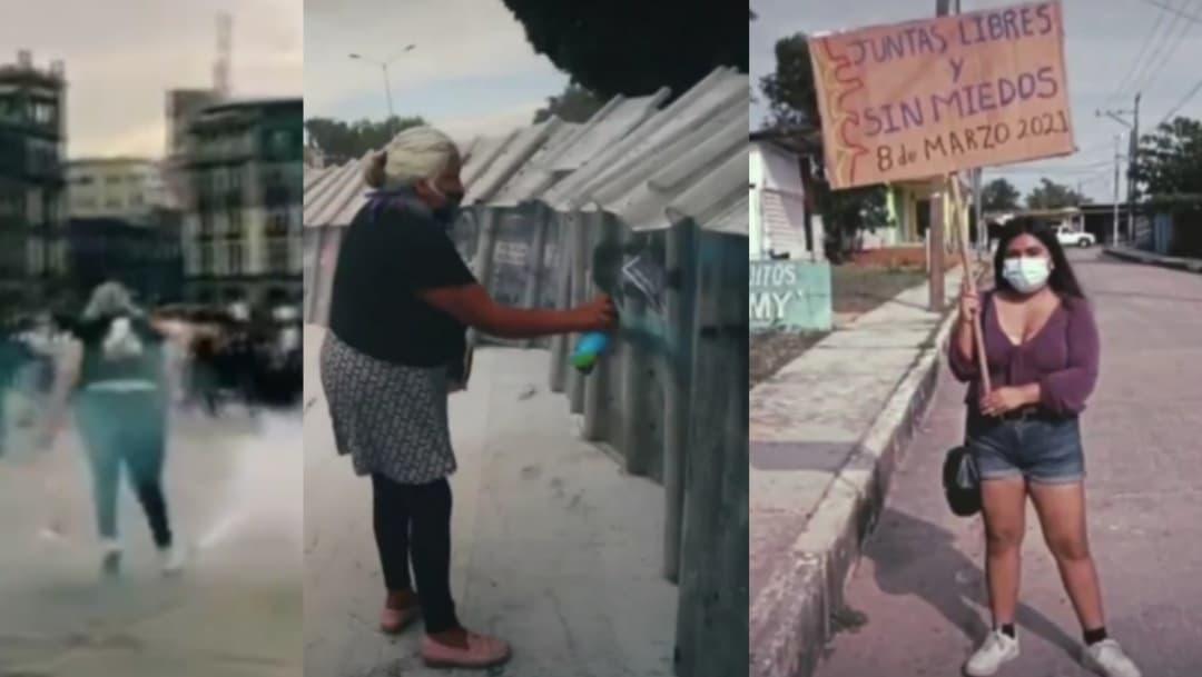 Imágenes de la manifestación del 8M que conmovieron en redes sociales