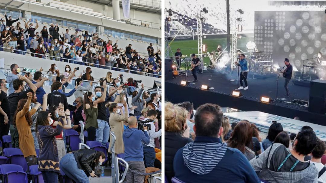 Israel realiza concierto al aire libre con vacunados COVID