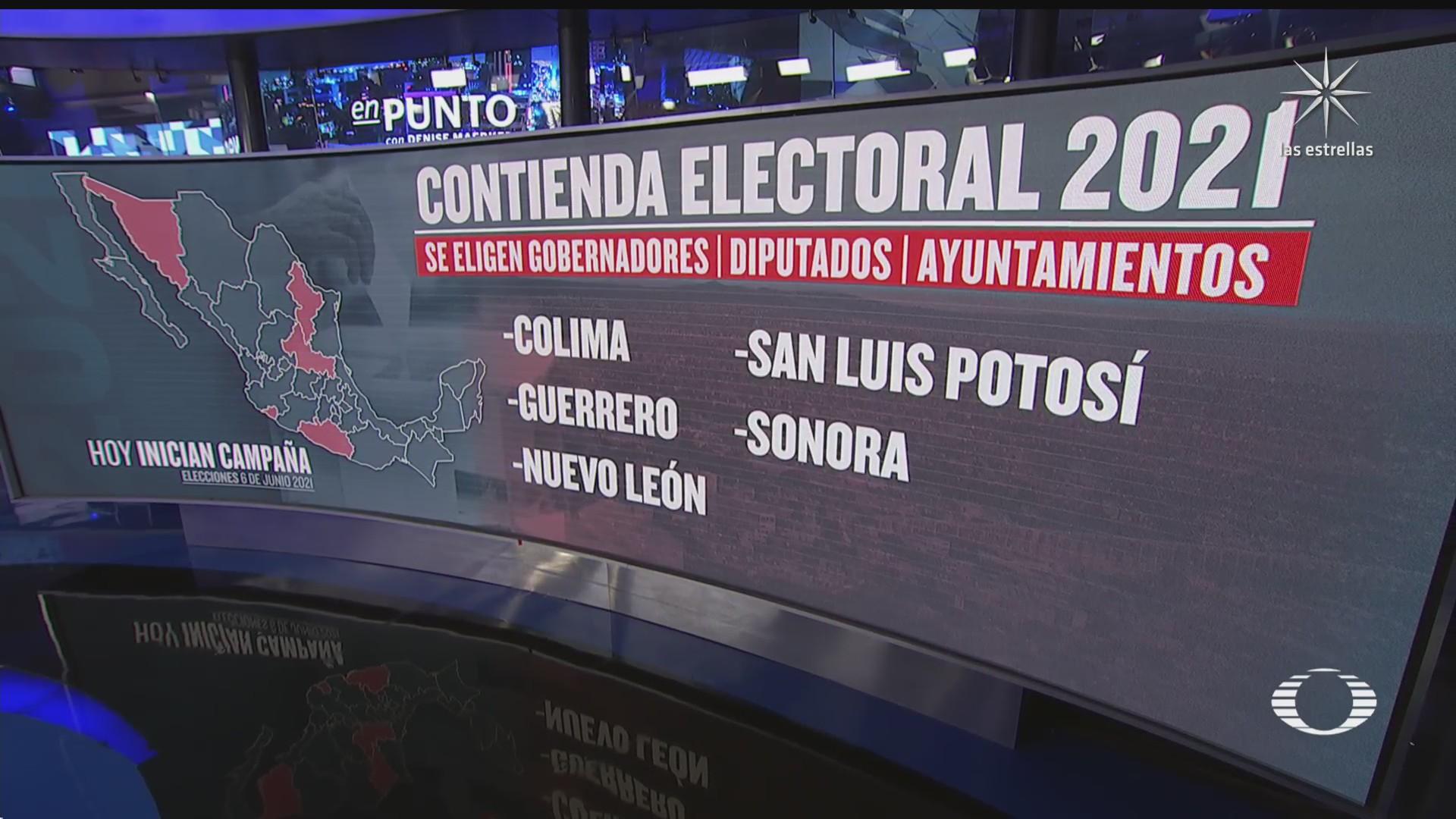 inician campanas electorales en cinco estados