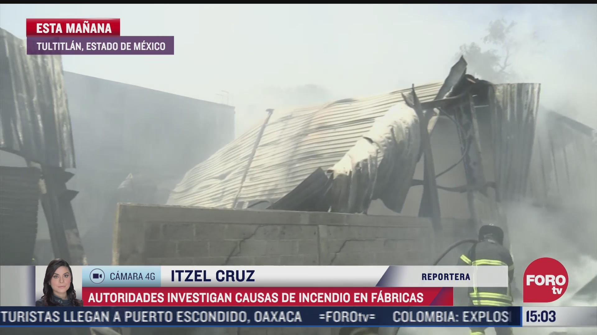 investigan causas de incendio en fabricas de edomex