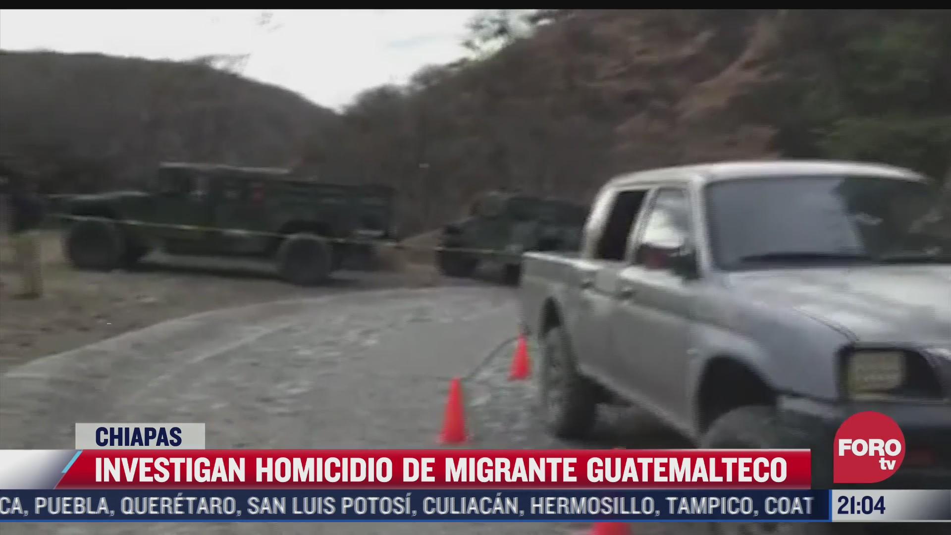 investigan muerte de migrante guatemalteco a manos del ejercito