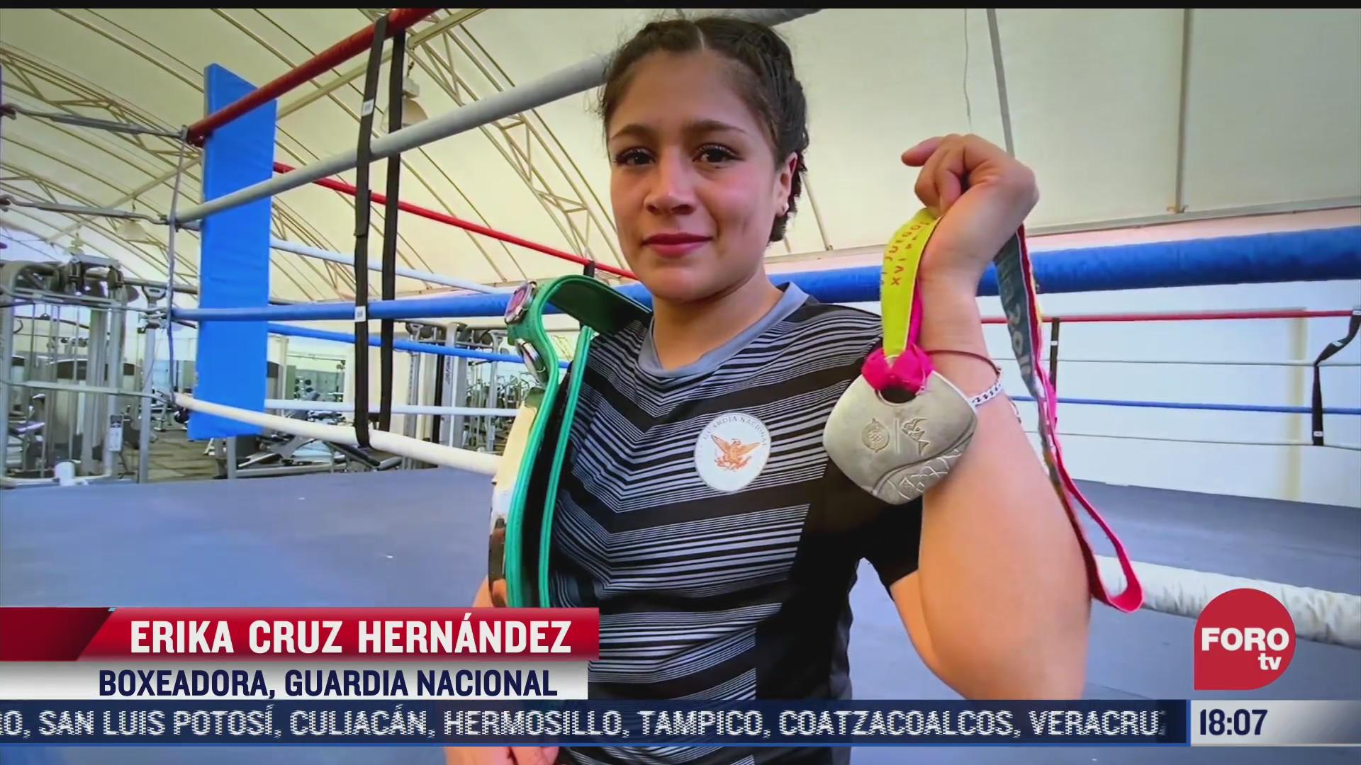 la boxeadora de la guardia nacional