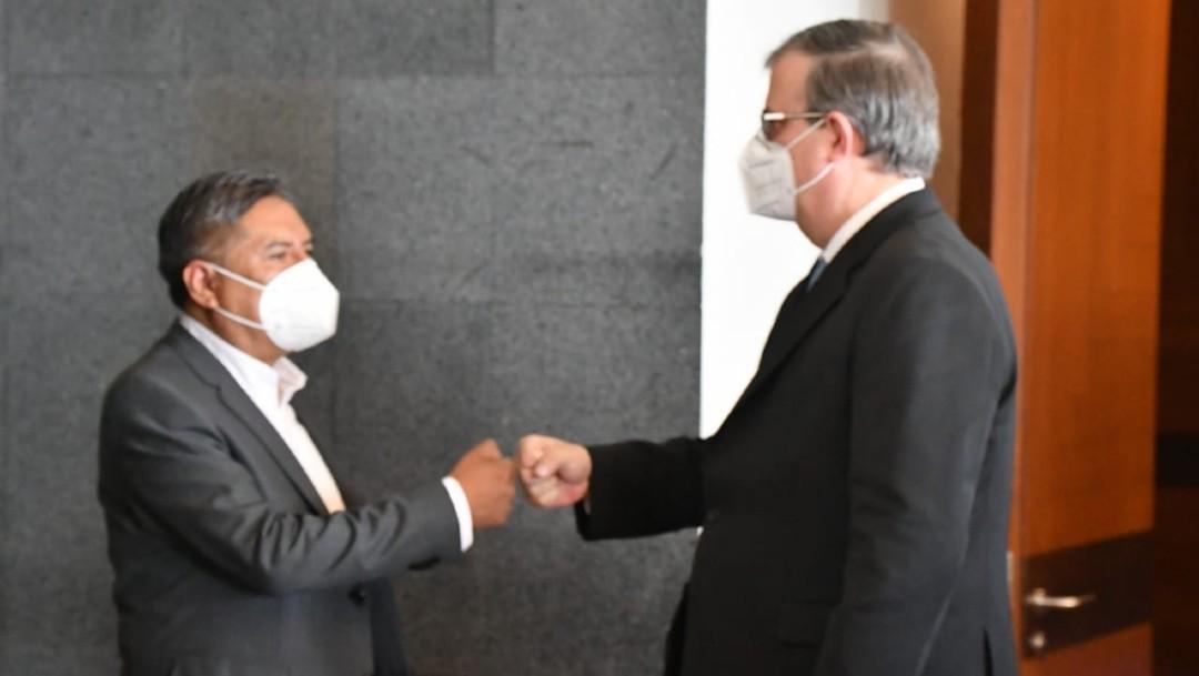 Cancilleres de México y Bolivia se reúnen previo a la visita del presidente Luis Arce al país