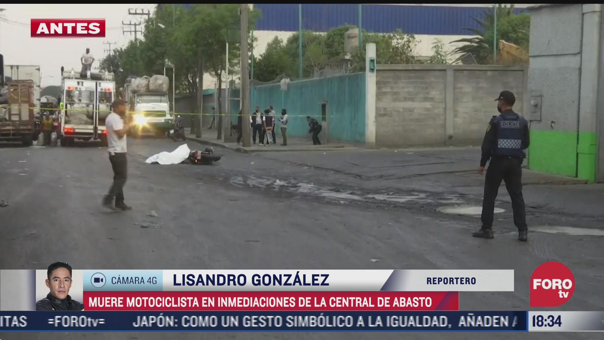 muere motociclista atropellado por trailer afuera de la central de abasto