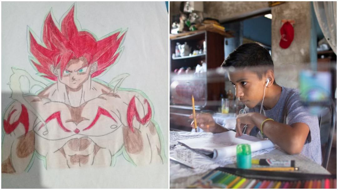 Niño de Venezuela vende dibujos por Twitter para ayudar a su madre y comprar comida