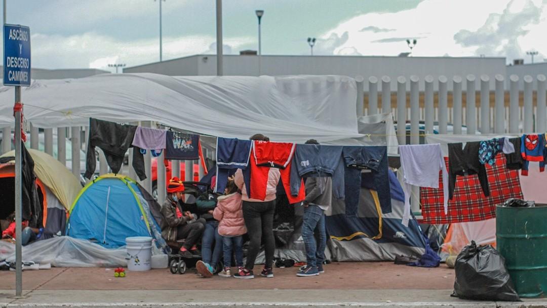 Niños migrantes en Tijuana enferman por bajas temperaturas