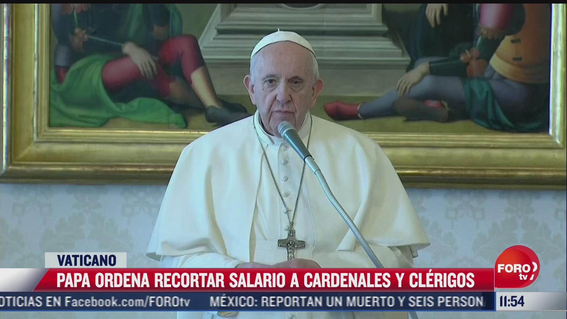 papa ordena recortar salario a cardenales en
