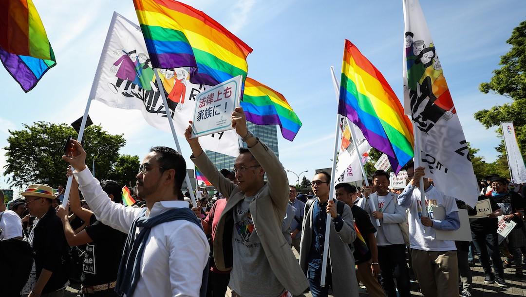 Activistas LGBT en Japón (Getty Images, archivo)