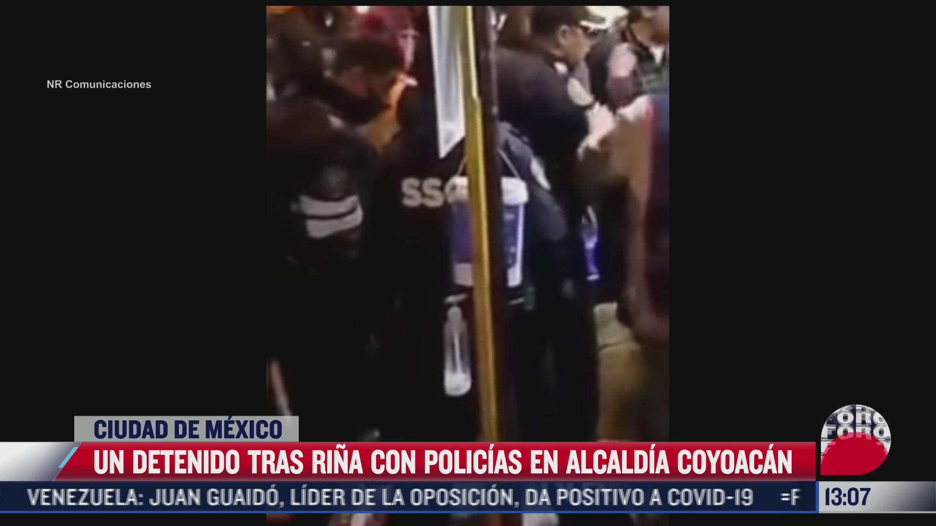 policias de la cdmx detienen a sujeto que agredio a oficiales en coyoacan