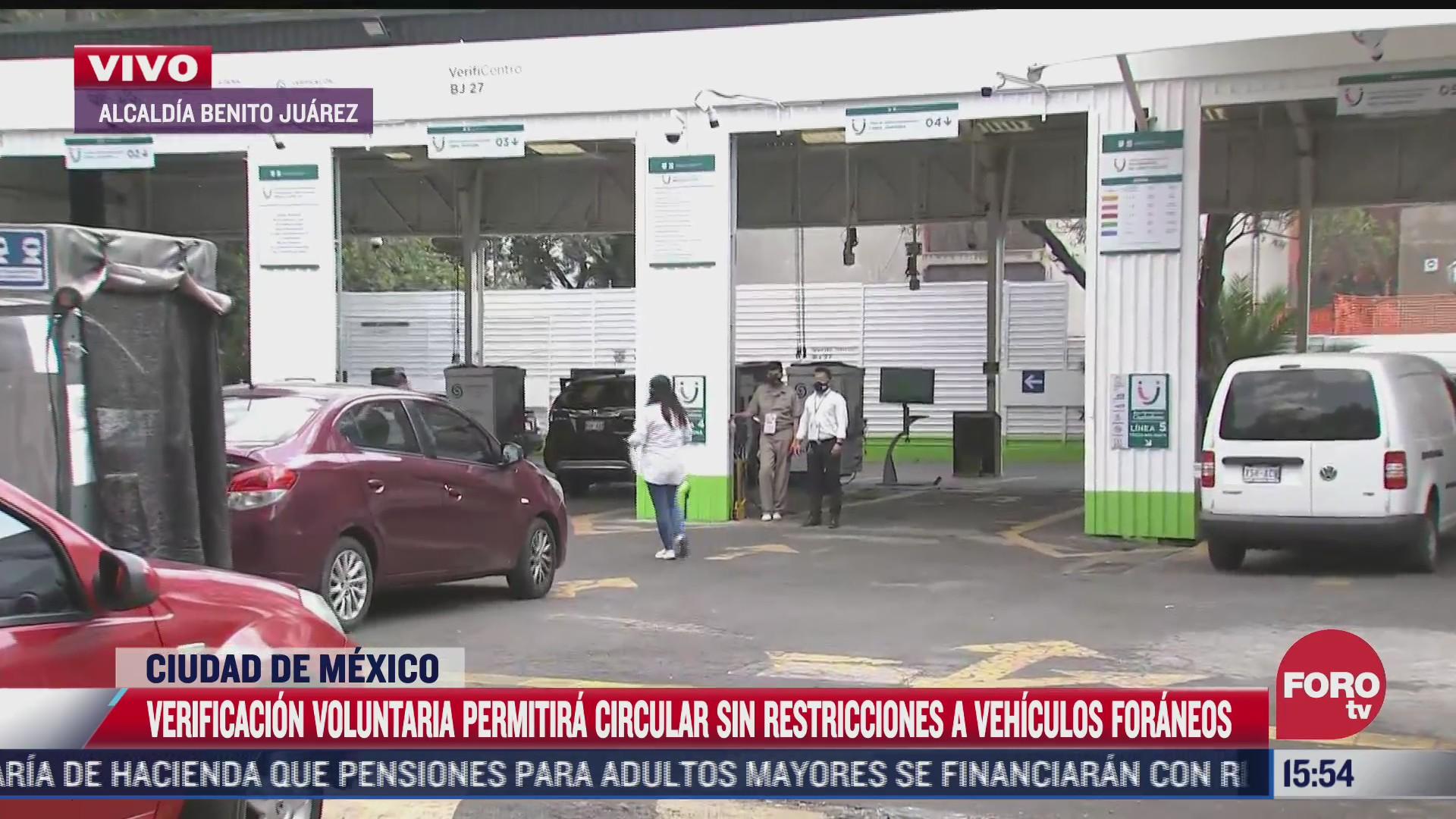 programa de verificacion voluntaria permitira circulacion sin restriccion de vehiculos foraneos