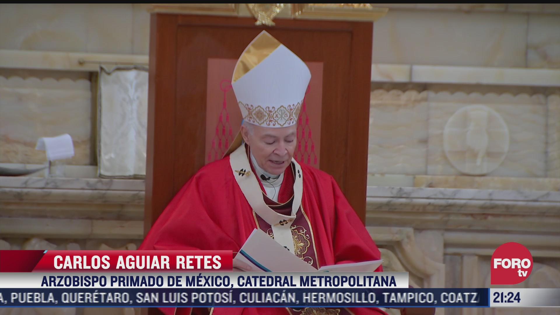 realizan misas por domingo de ramos en catedral y basilica