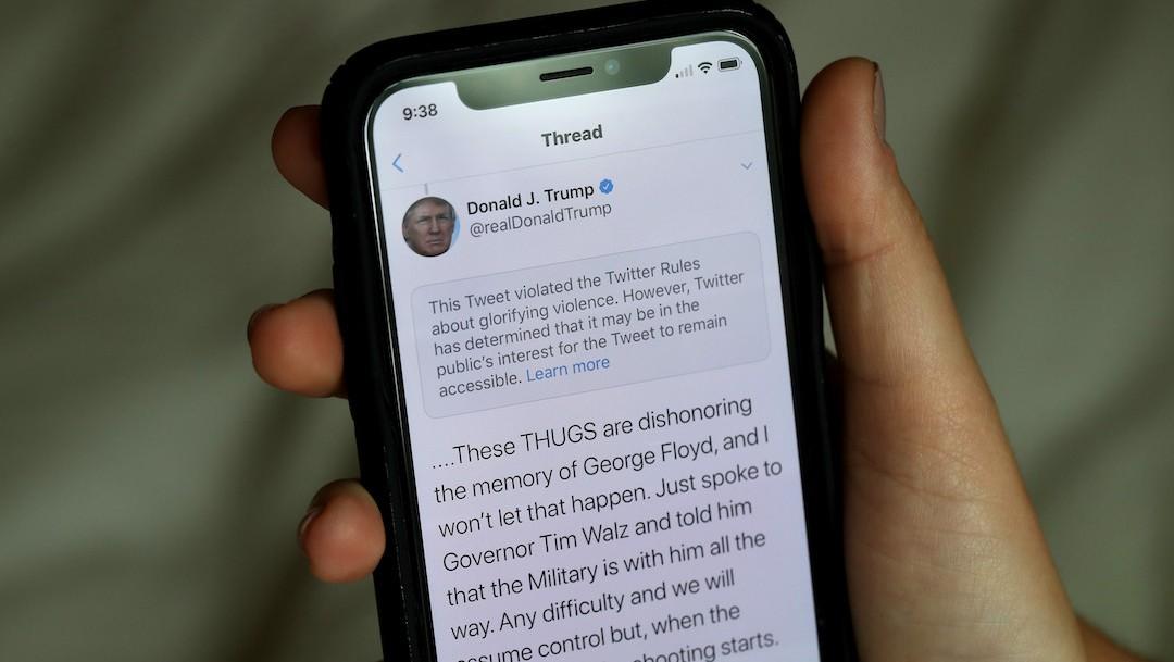 Trump fue vetado de Twitter por el asalto de sus seguidores al Capitolio (Getty Images)