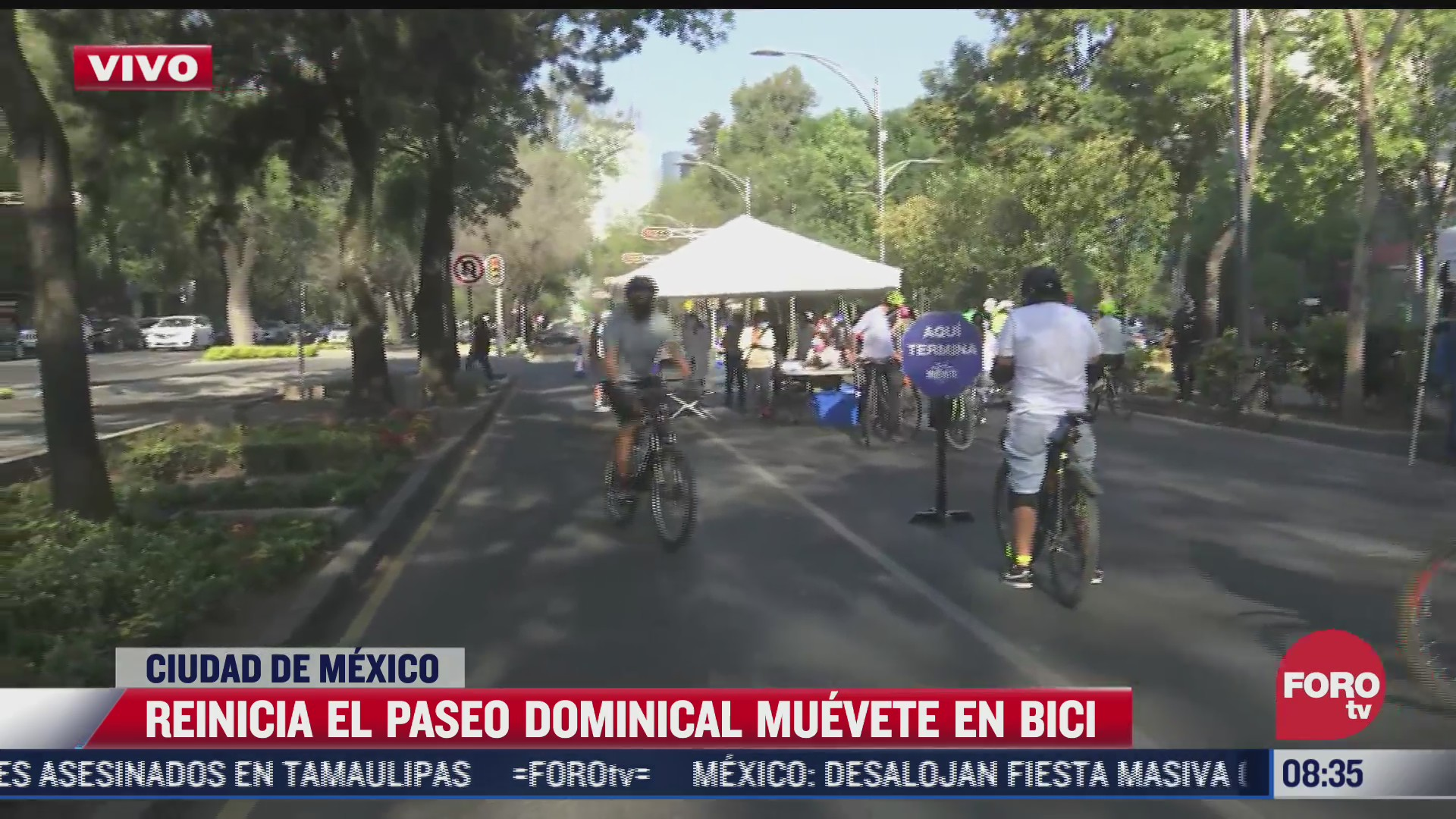 reinicia el paseo dominical muevete en bici con uso de cubrebocas obligatorio