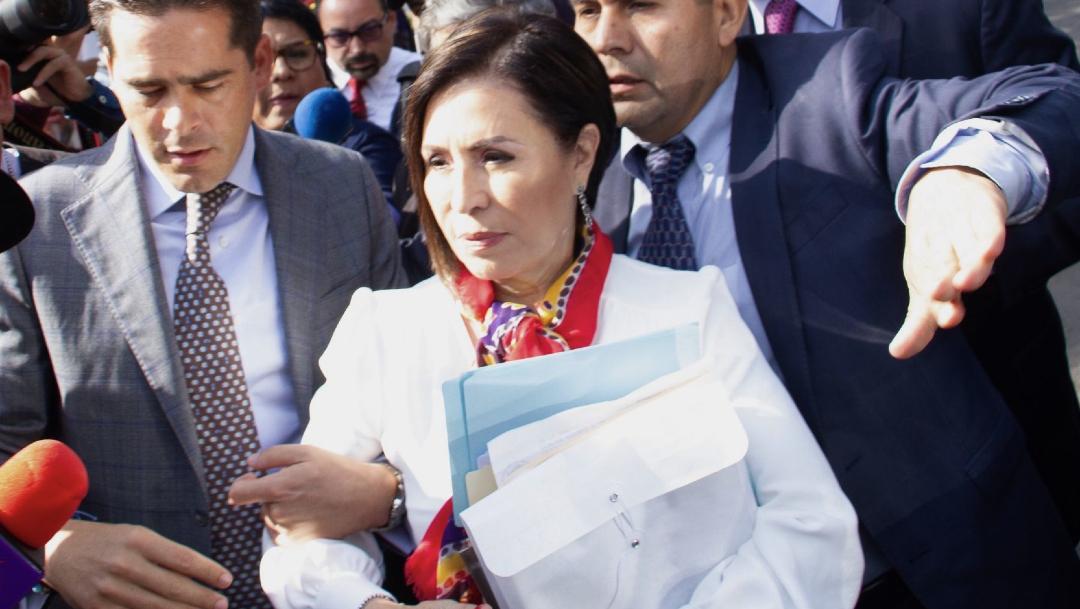 Rosario Robles, ex titular de Sedesol y Sedatu, a su llegada a los juzgados del Reclusorio Sur