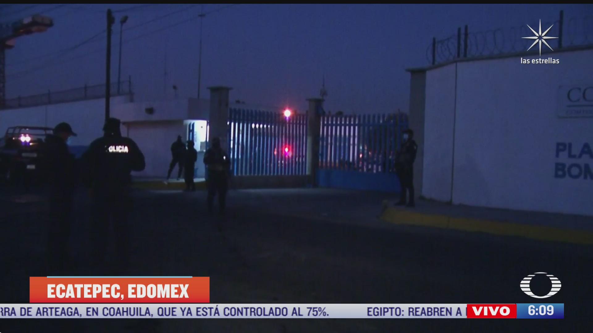 se registra fuga de gasolina en planta de conagua en ecatepec