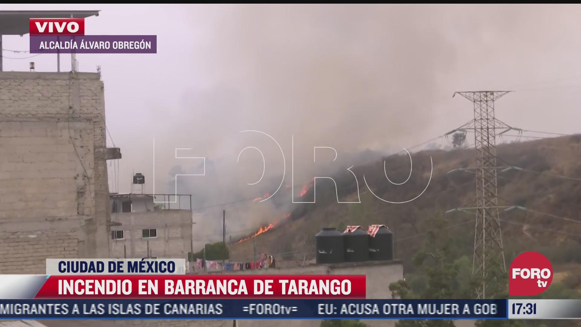 se registra incendio de la barranca de tarango