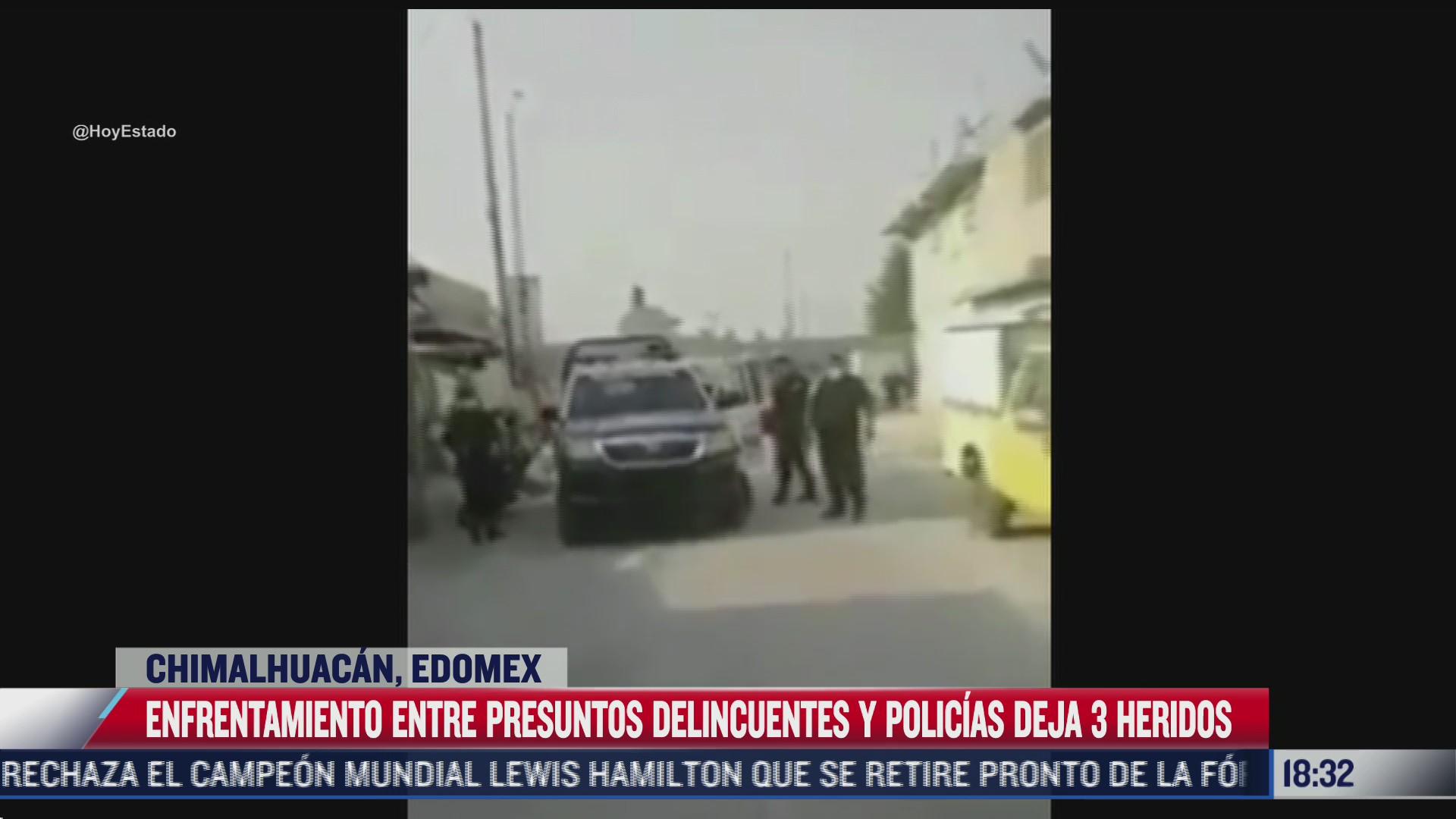 se registra trifulca entre vecinos y policias en chimalhuacan