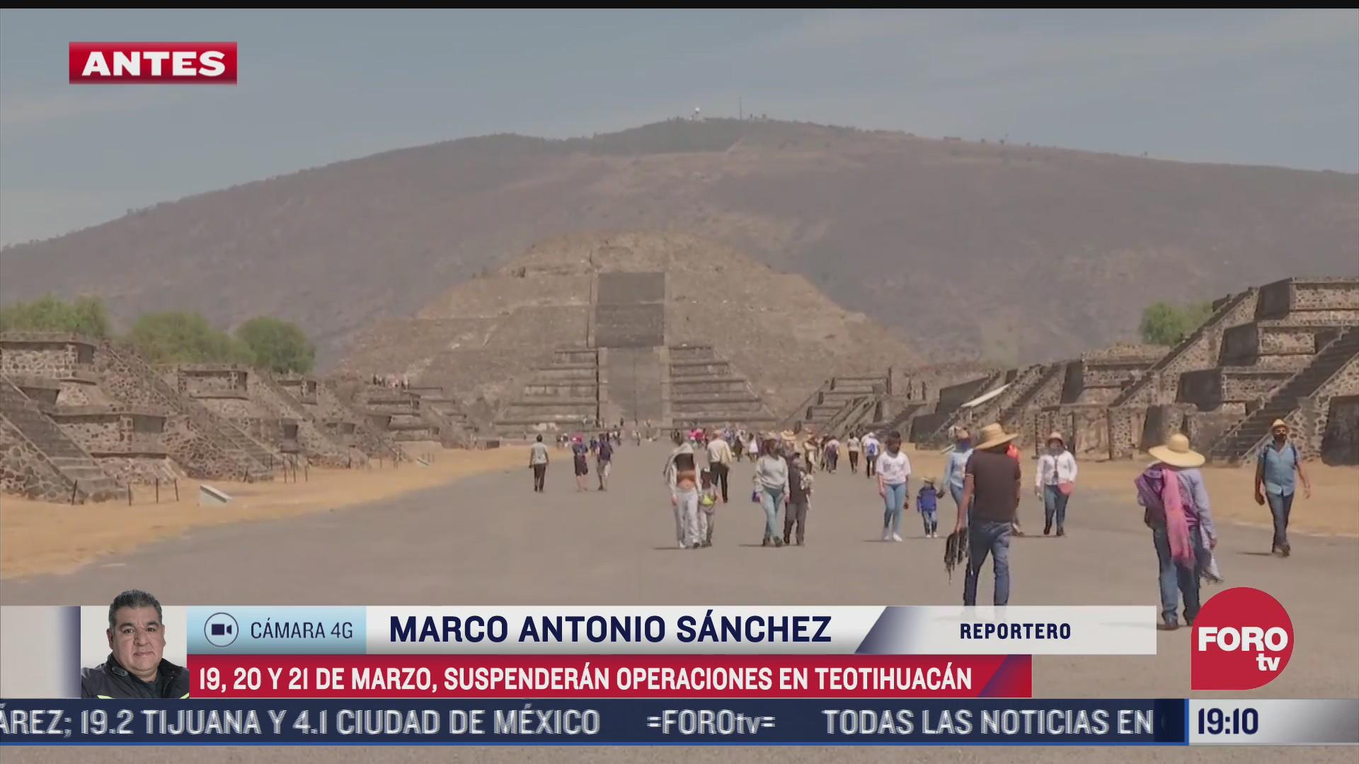 se suspenden los festejos por equinoccio de primavera en teotihuacan