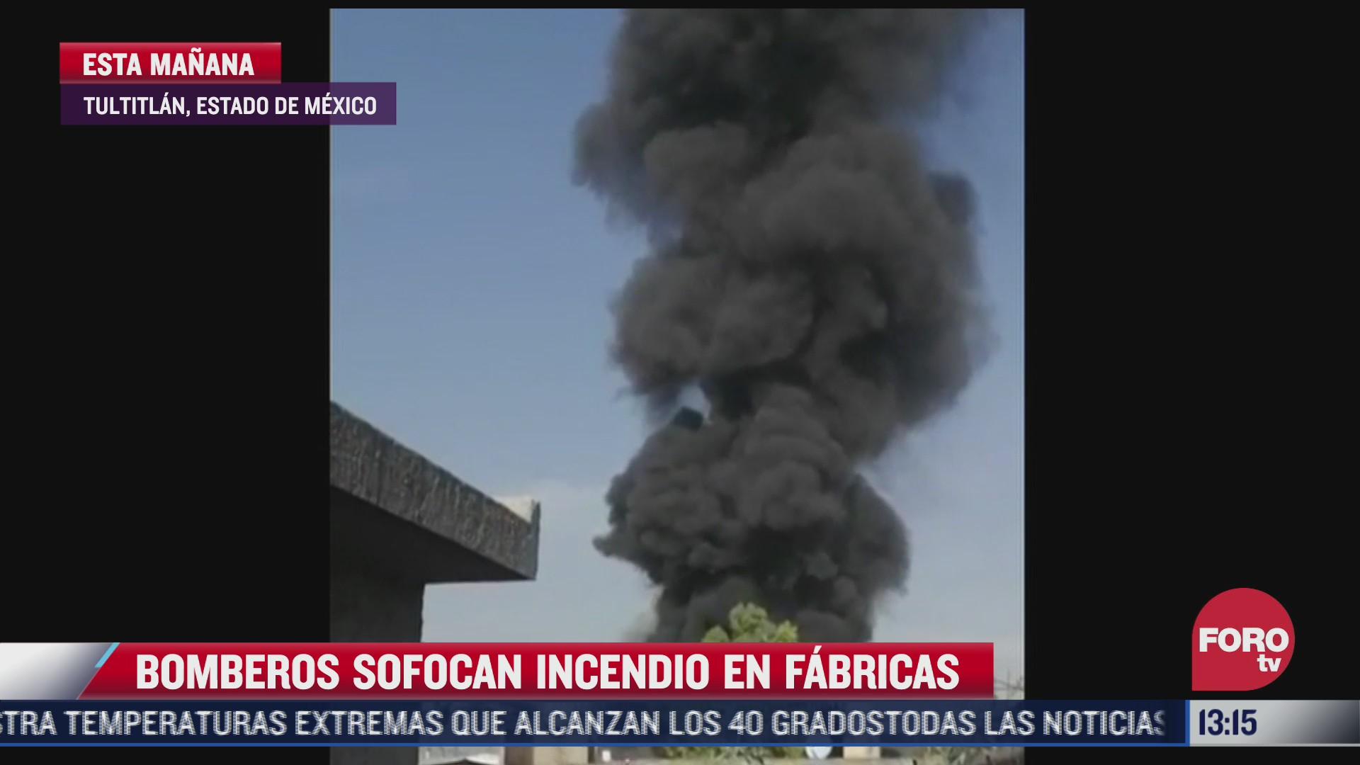 sofocan incendio en zona industrial en tultitlan estado de mexico
