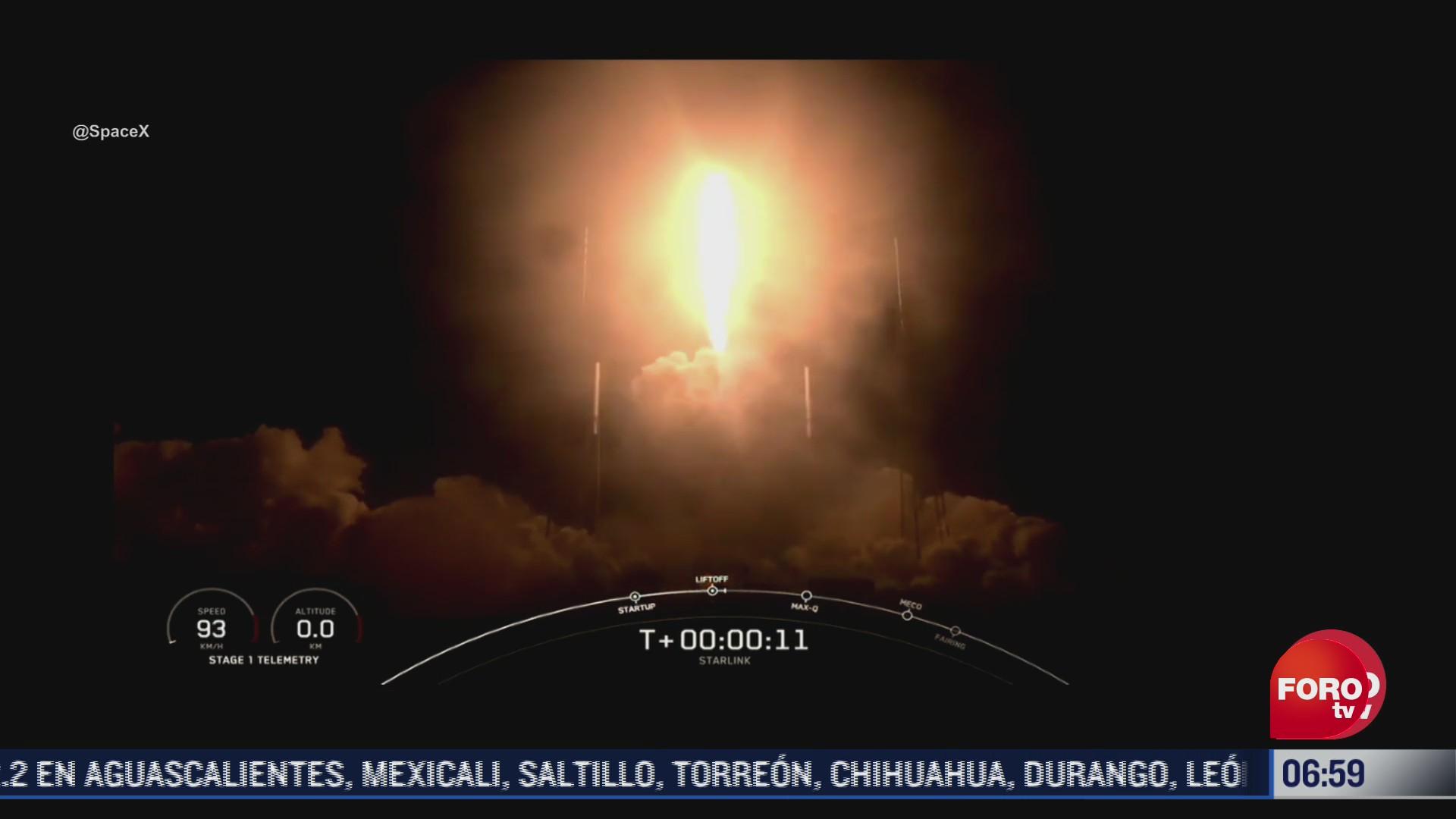 spacex lanza 60 satelites starlink