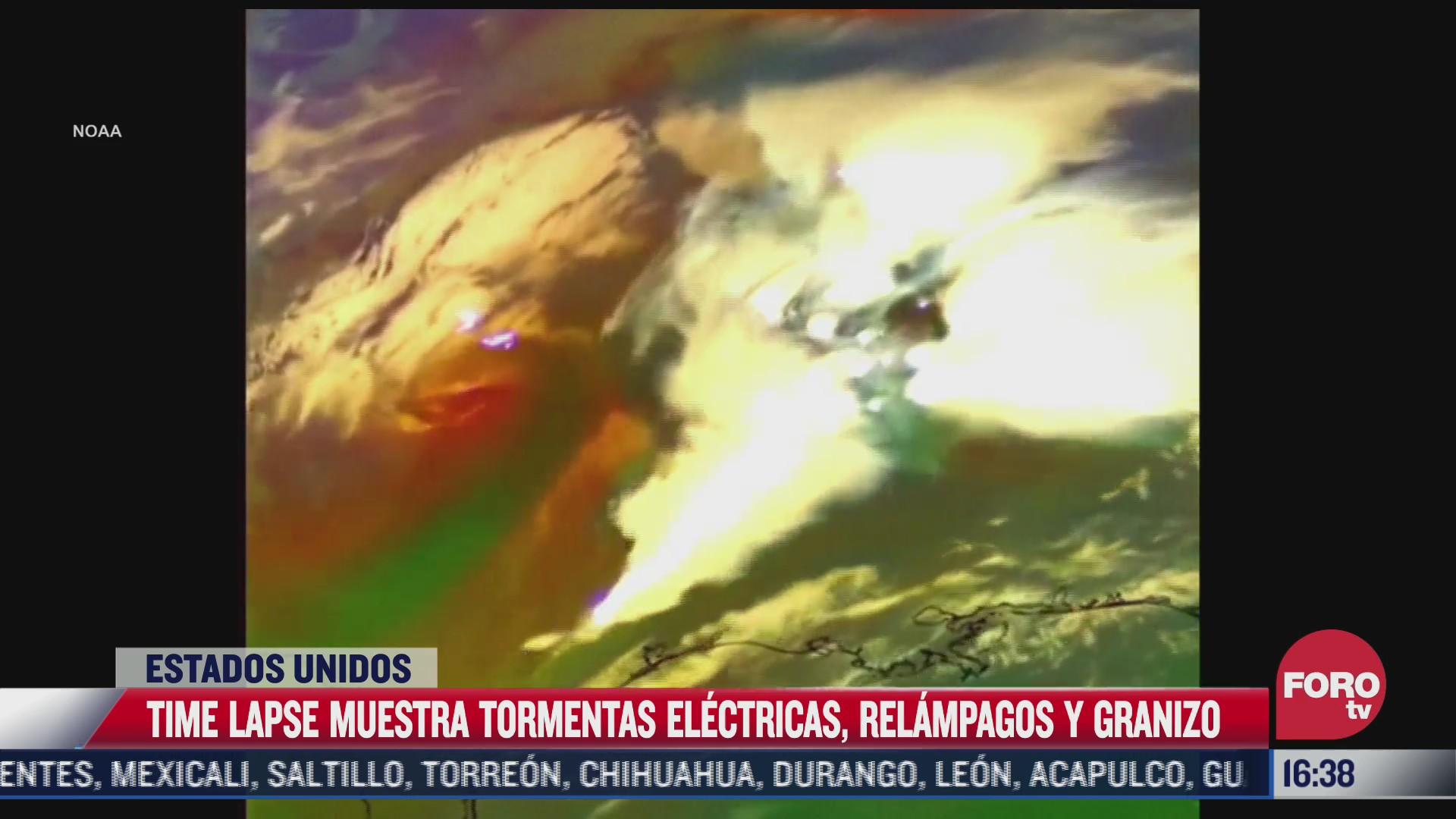 time lapse muestra tormentas electricas y relampagos en eeuu