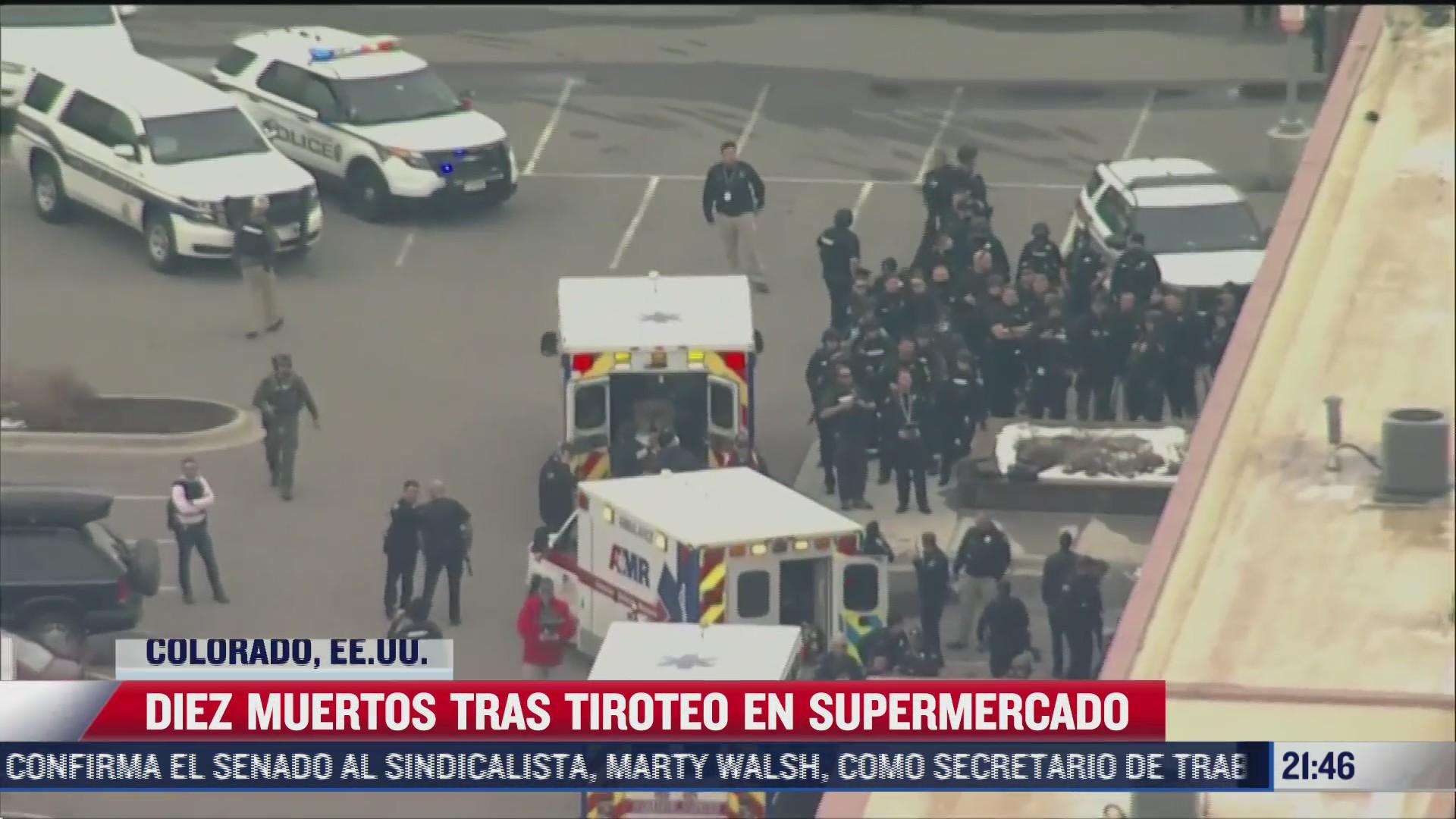 tiroteo en supermercado de colorado eeuu deja diez muertos