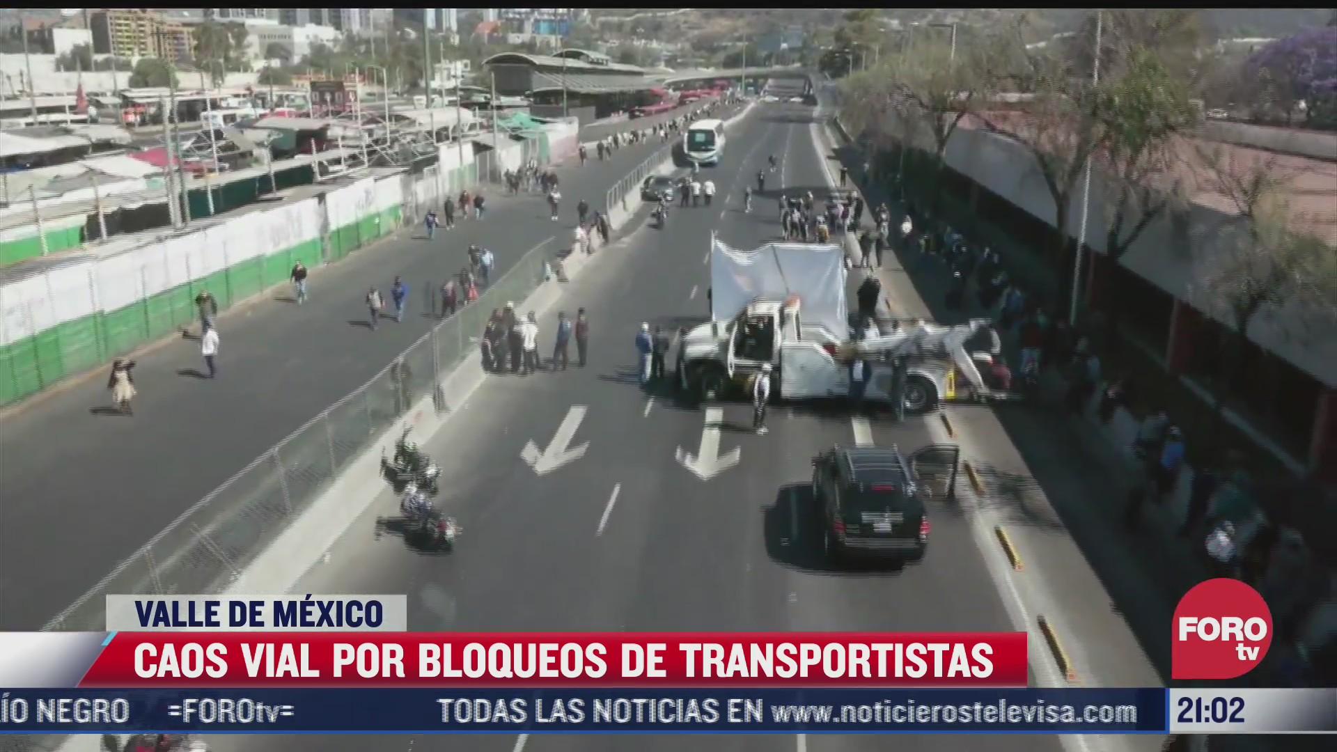 transportistas bloquean vialidades de la cdmx