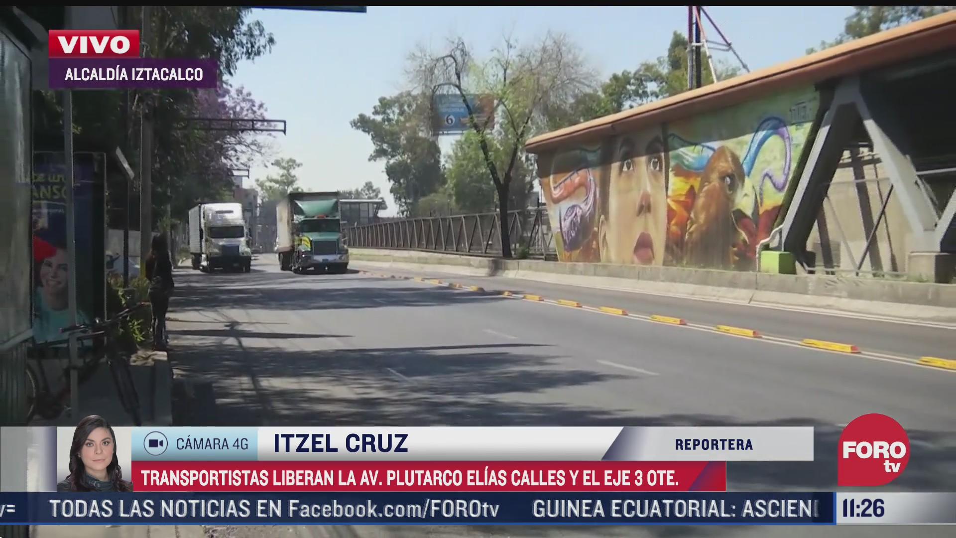 transportistas reabren circulacion en eje 3 oriente y avenida plutarco elias calles