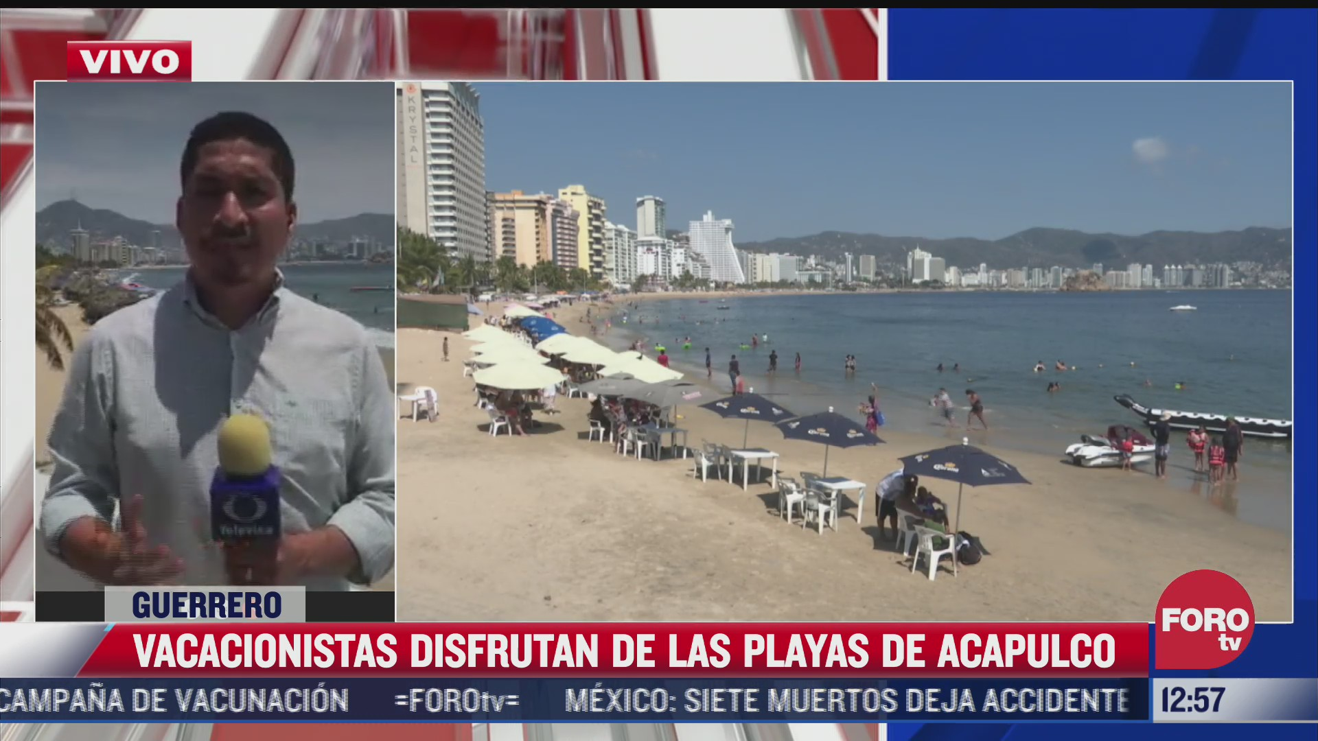 turistas visitan acapulco en semana santa