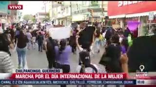 un violado no sera gobernador consigna de mujeres durante marcha en chilpancingo