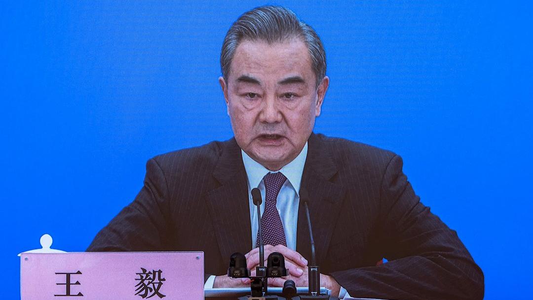 El ministro de Asuntos Exteriores, Wang Yi, en una rueda de prensa
