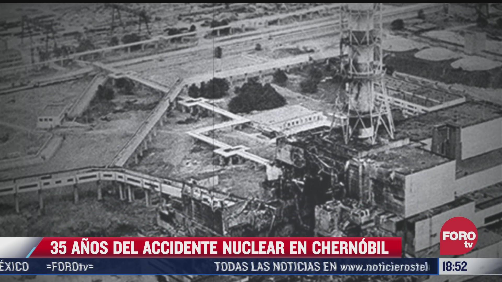 accidente nuclear de chernobil cumple 35 anos